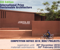 "The Prize ""Sustainable Architecture"" Fassa Bortolo 2019"