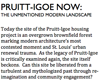 PRUITT-IGOE NOW:  THE UNMENTIONED MODERN LANDSCAPE