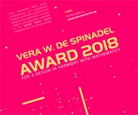 Vera W. de Spinadel Award 2018 for a Design in harmony with mathematics